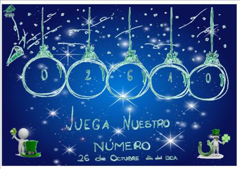 Número da lotaría de Nadal de ADACECO 2016