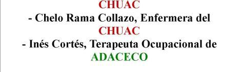 Cartel co anuncio da charla de ADACECO.
